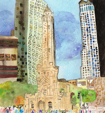 CHICAGO WATER TOWER - PRINT