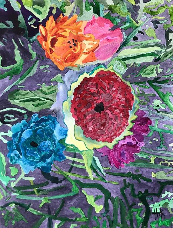 COLORFUL BLOOMS - PRINT