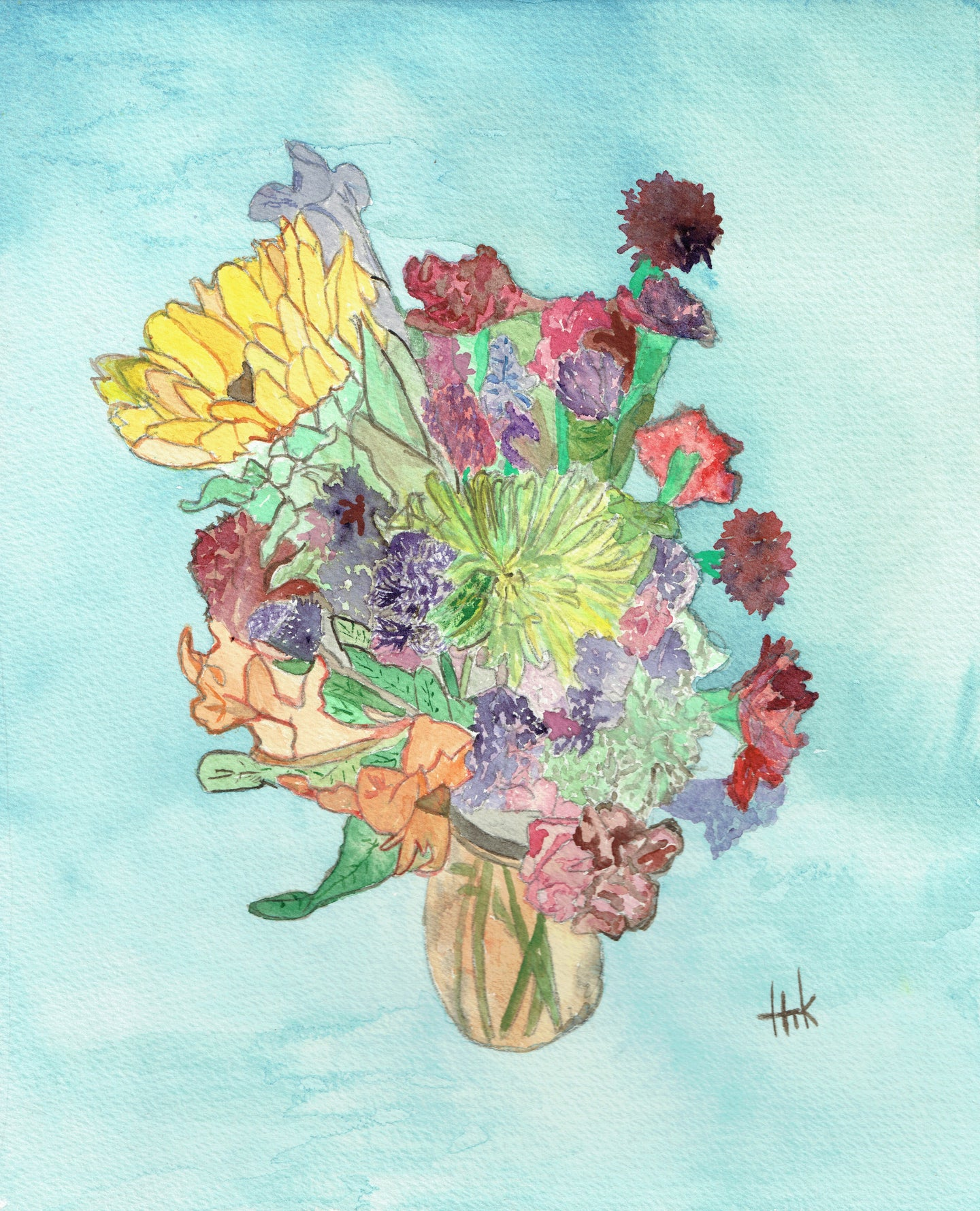FLORAL ARRANGEMENT - CARDS