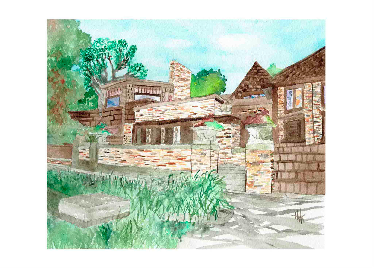 FRANK LLOYD WRIGHT HOME & STUDIO - CARDS