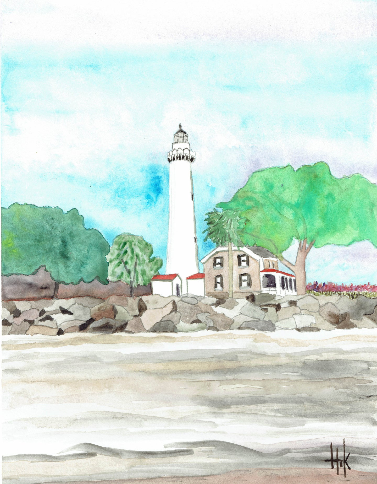 LIGHTHOUSE ST. SIMONS ISLAND GEORGIA - PRINT