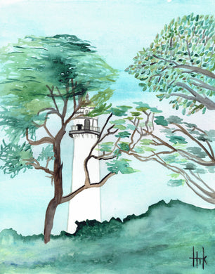 LIGHTHOUSE IN TREES