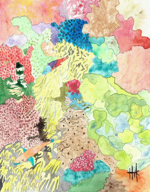 LIVELY GREAT BARRIER REEF - PRINT