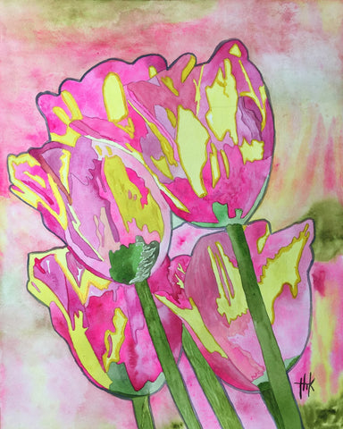 PINK TULIPS - CARDS