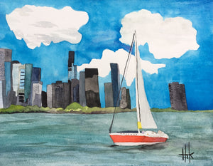 SAILING CHICAGO - PRINT