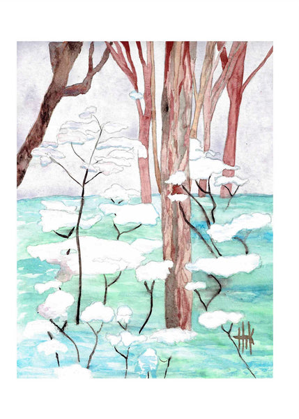 SNOWY WOODS - CARDS