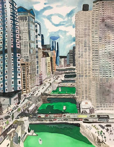 ST. PATTY'S IN CHICAGO - PRINT