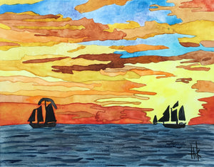 SUNSET SAIL - PRINT