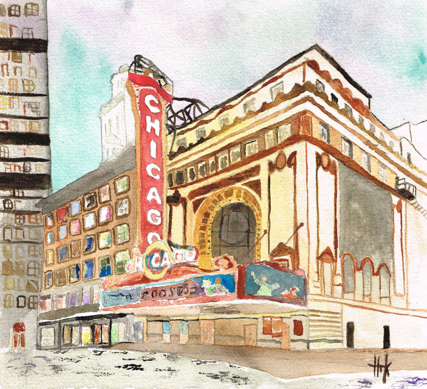 CHICAGO THEATRE - PRINT