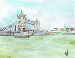 TOWER BRIDGE LONDON - PRINT