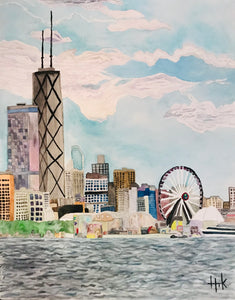 WATERFRONT FERRIS WHEEL - PRINT