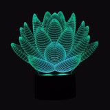 Psychedelic Lotus Illusion Lamp - Trip City