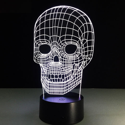 Trippy Skull Illusion Lamp - Trip City