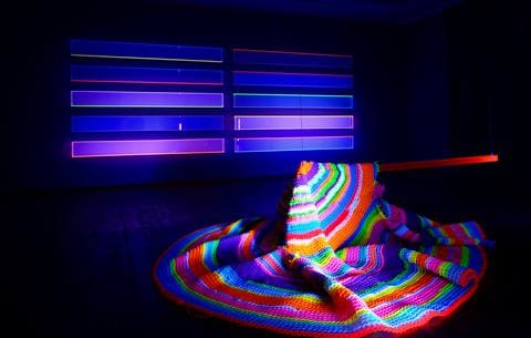 Black Light Room Trippy City
