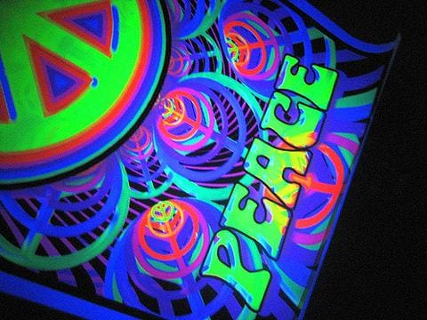 black light poster trippy