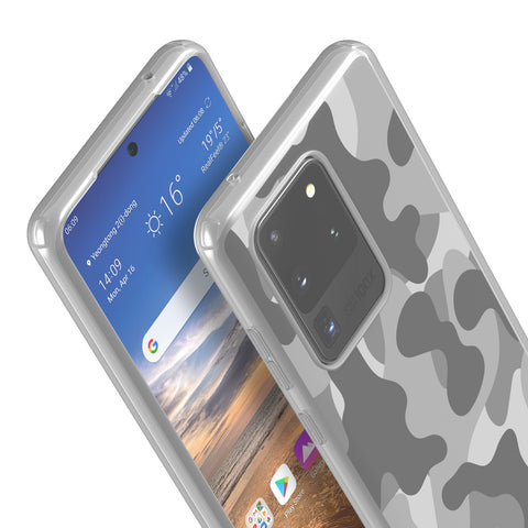 gray camo samsung flexi case