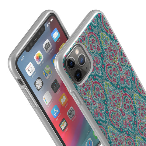 Aqua Paisley iPhone Flexi Case