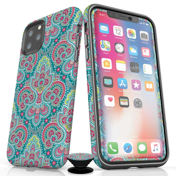 Aqua Paisley iPhone Bundles