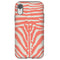Coral Zebra iPhone Tough Case