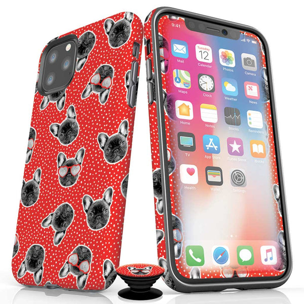 frenchie-french bulldog design-iphone 11 pro max - iphone 11 pro  bundle