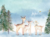 Christmas Backdrop - Little Deer