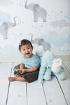 Blue Elephants Photography Backdrop