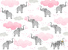 Pink Elephants Photography Backdrop