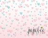 Valentine - Pastel Heart Photography Backdrop