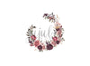 Ambrose Wreath Floral Newborn Backdrop