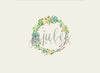 Sedona Wreath Floral Newborn Backdrop