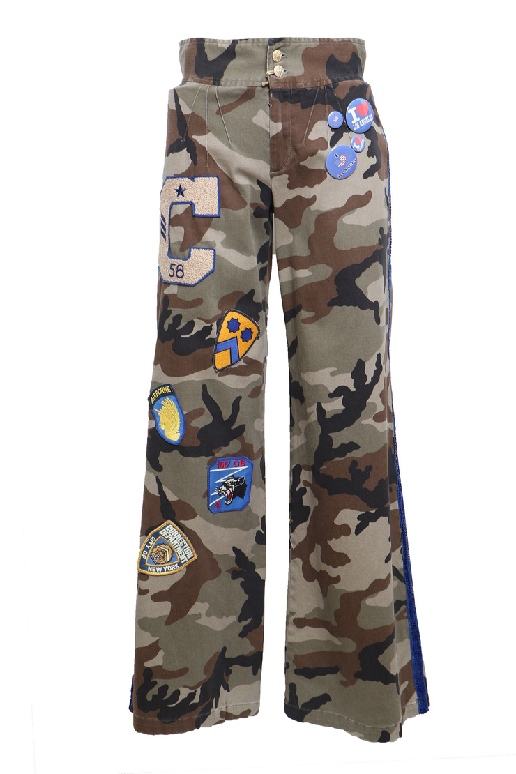 Palazzo Camouflage Trousers