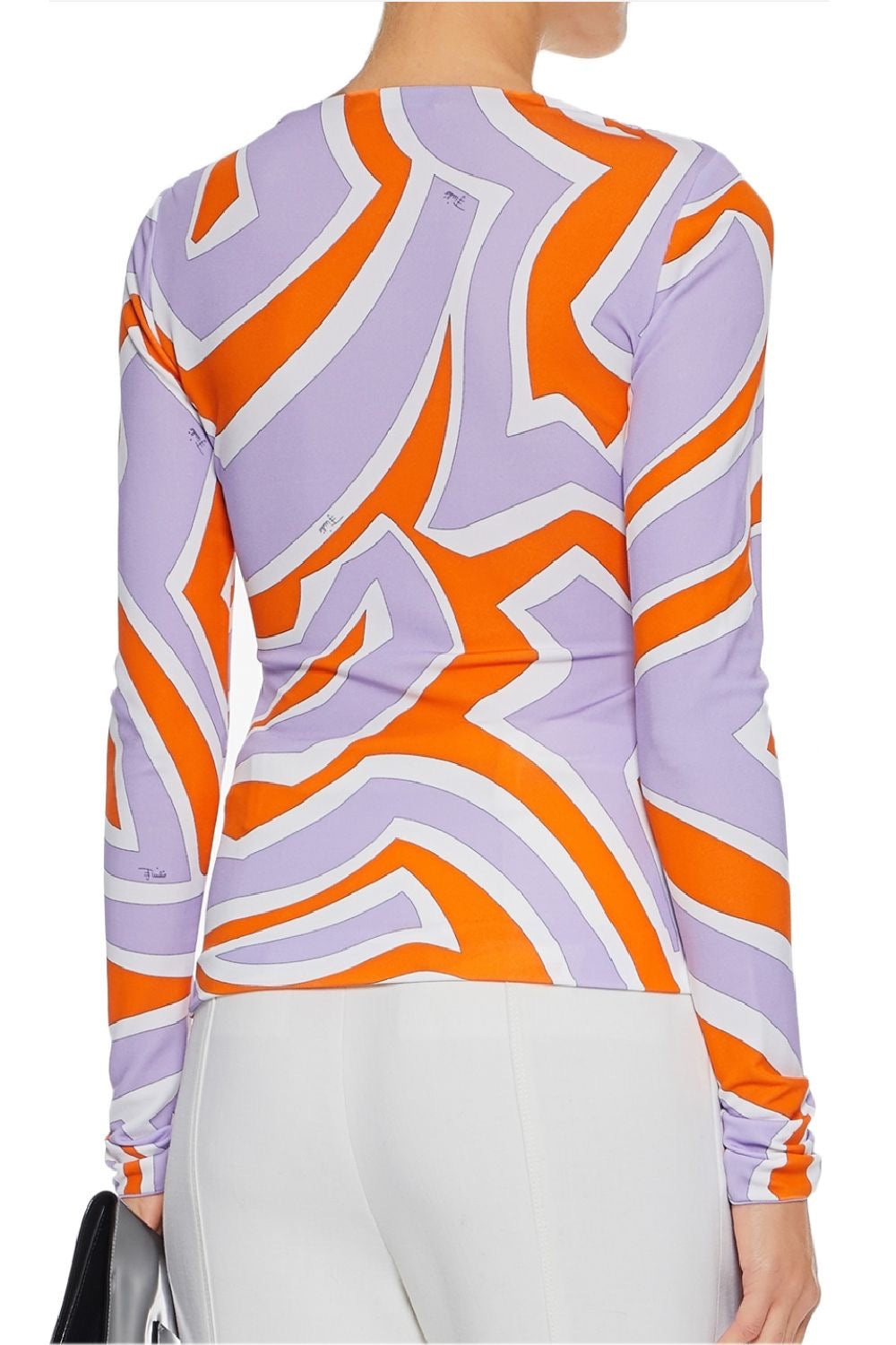 Labirinto Wrap-Effect Gathered Stretch Jersey Top - The Bobby Boga
