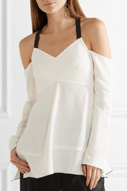 Top Crepe Off Shoulder
