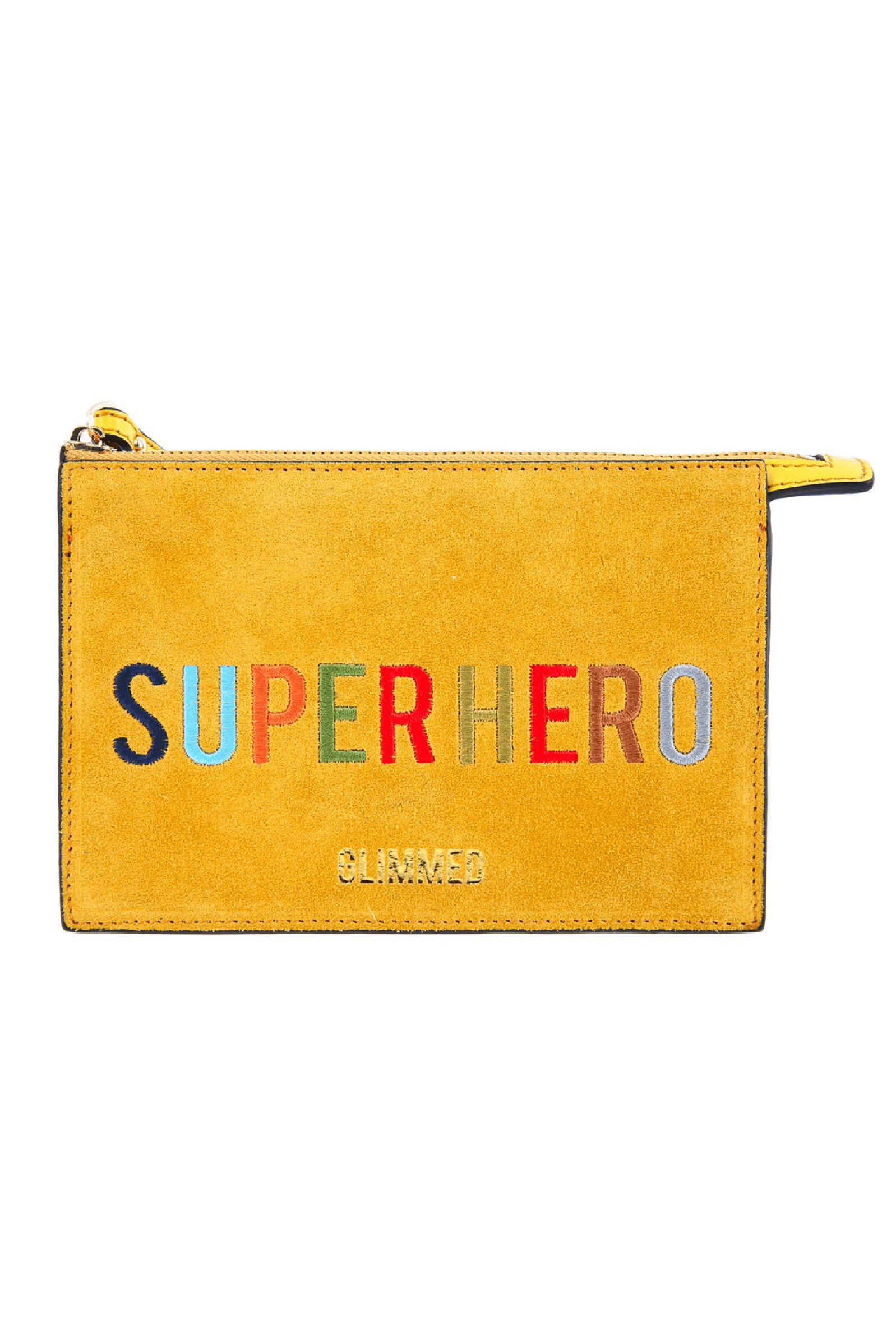 Super Heroes Leather Clutch - The Bobby Boga