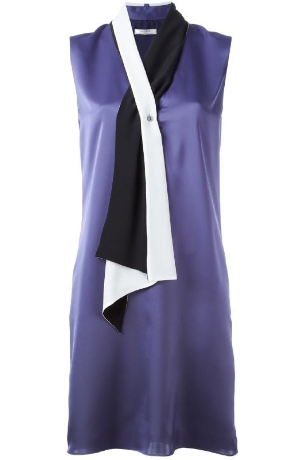 Scarf Neckline Satin Dress - The Bobby Boga