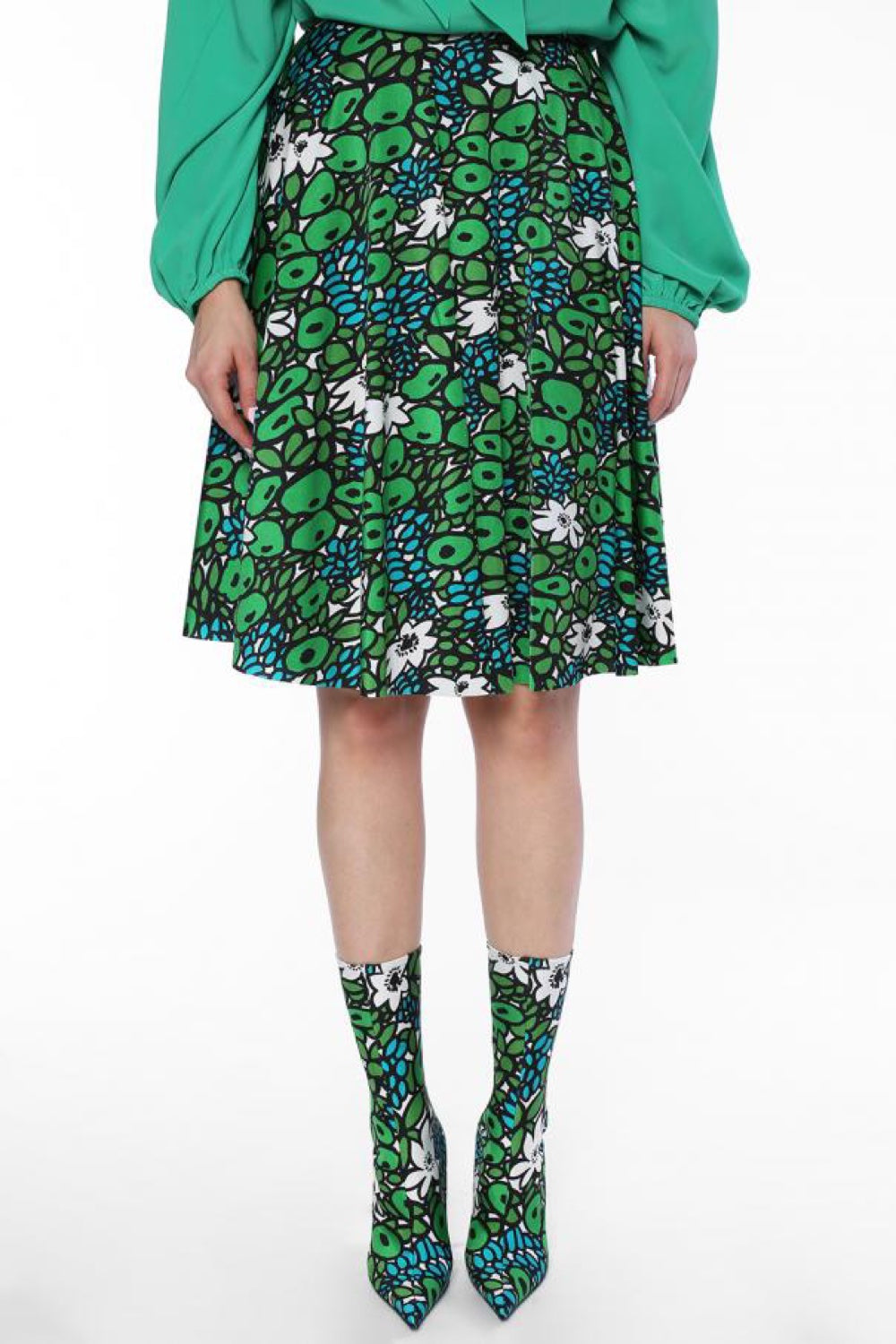 Patterned Flared Skirt - The Bobby Boga