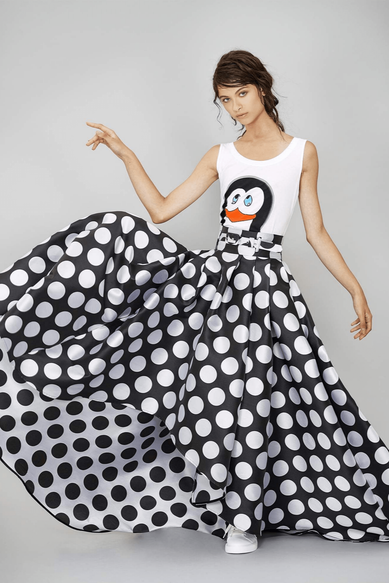 Pingu Print Cotton Tank Top - The Bobby Boga