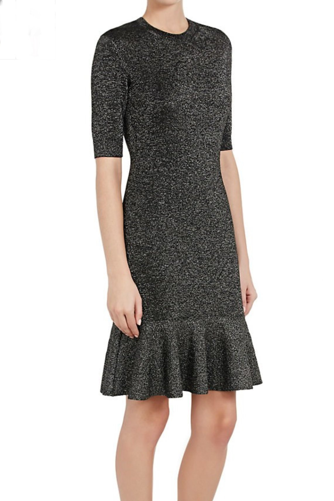 Metallic Knit Half-Sleeve Dress - The Bobby Boga