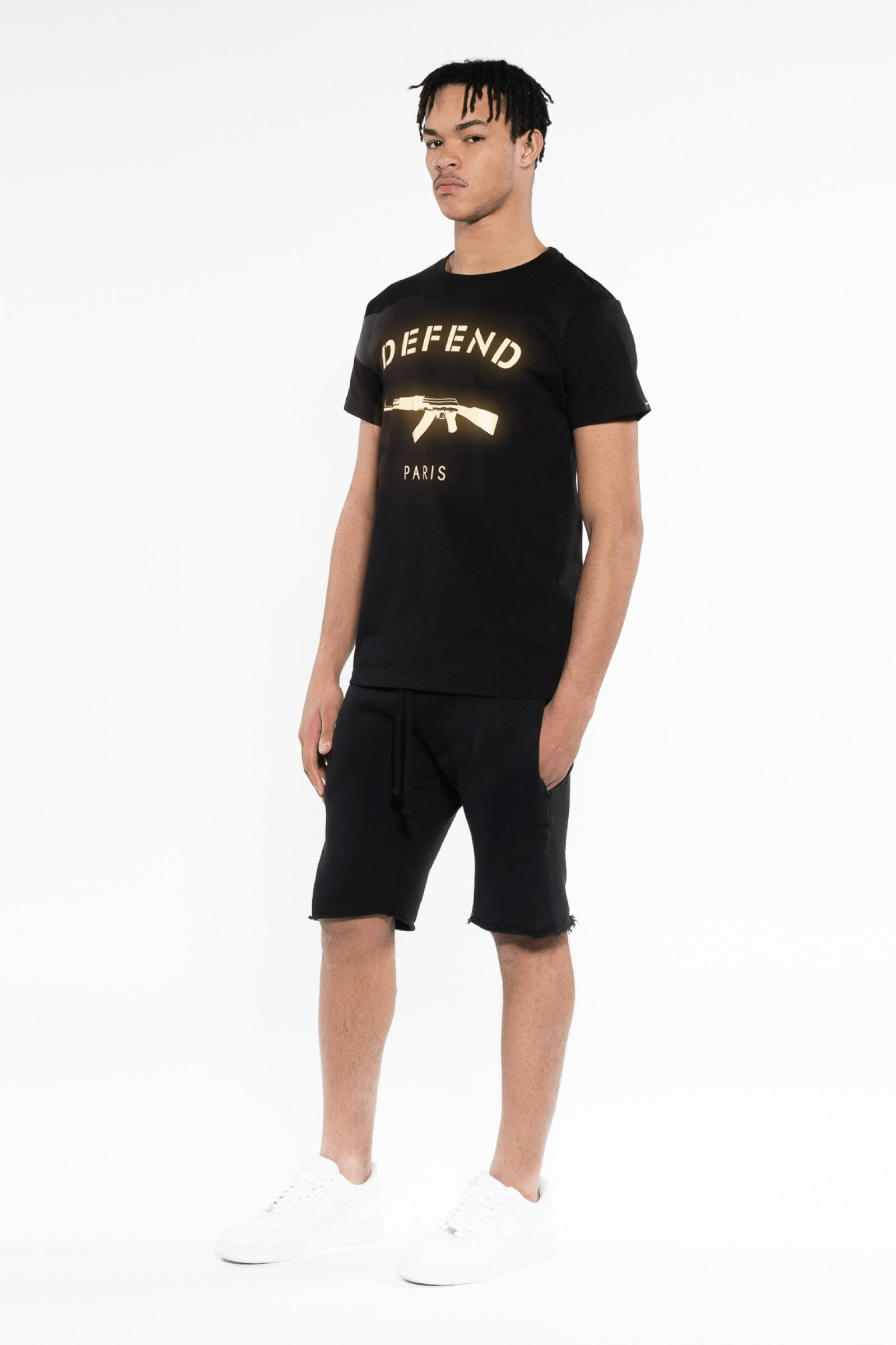 Saturne Tee Black Gold - The Bobby Boga