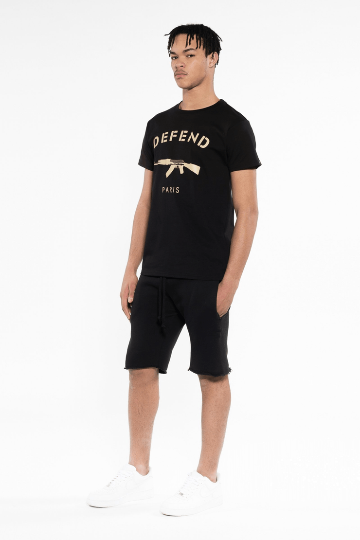 T-Shirt Saturne Black Gold