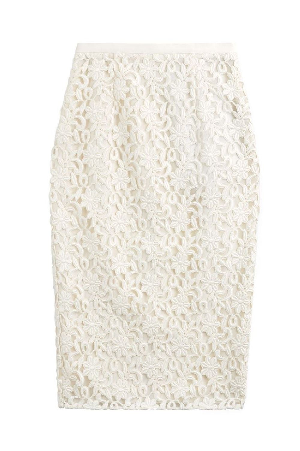 Guipure Lace Long Pencil Skirt - The Bobby Boga