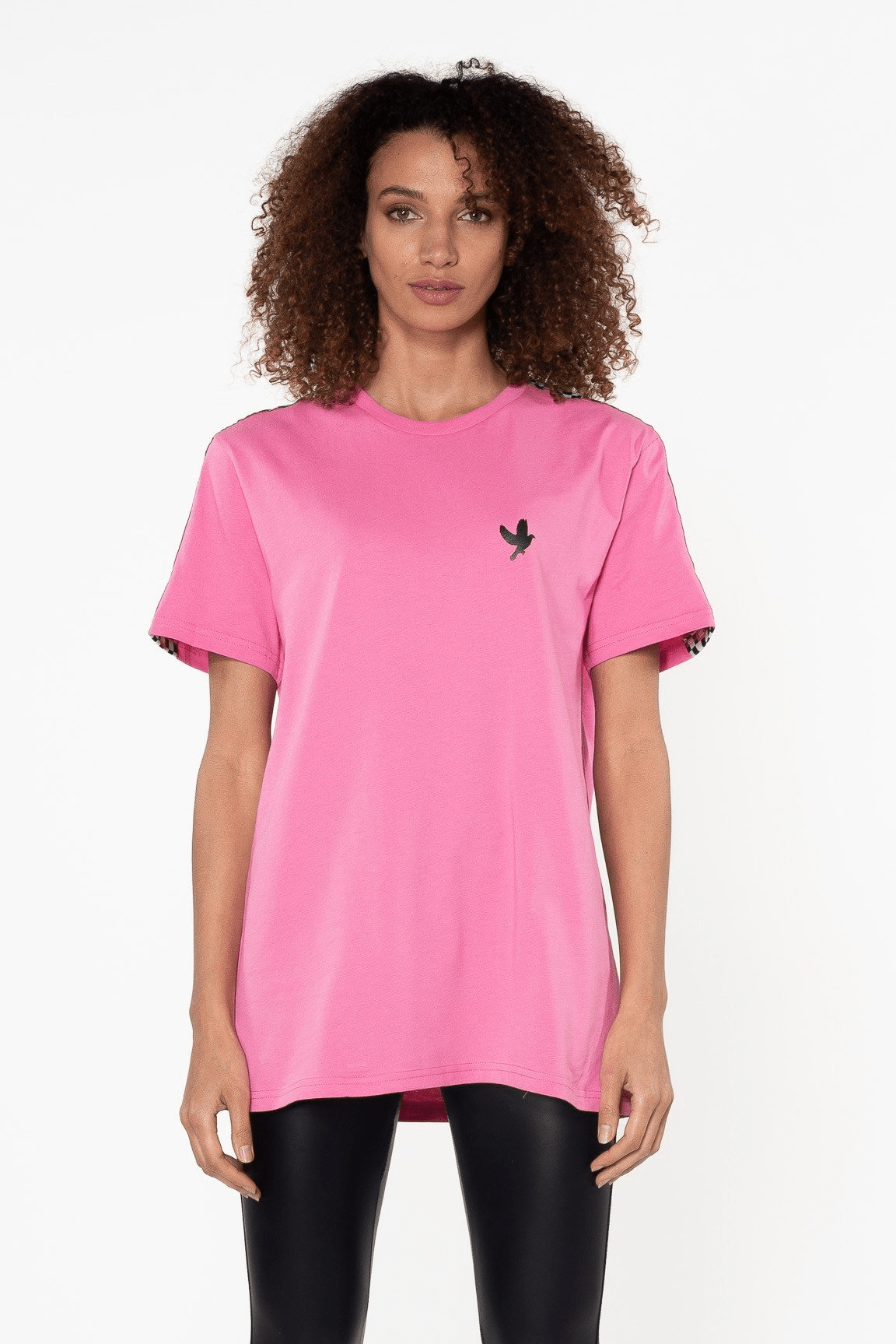 Damier Cotton Tee Hot Pink - The Bobby Boga