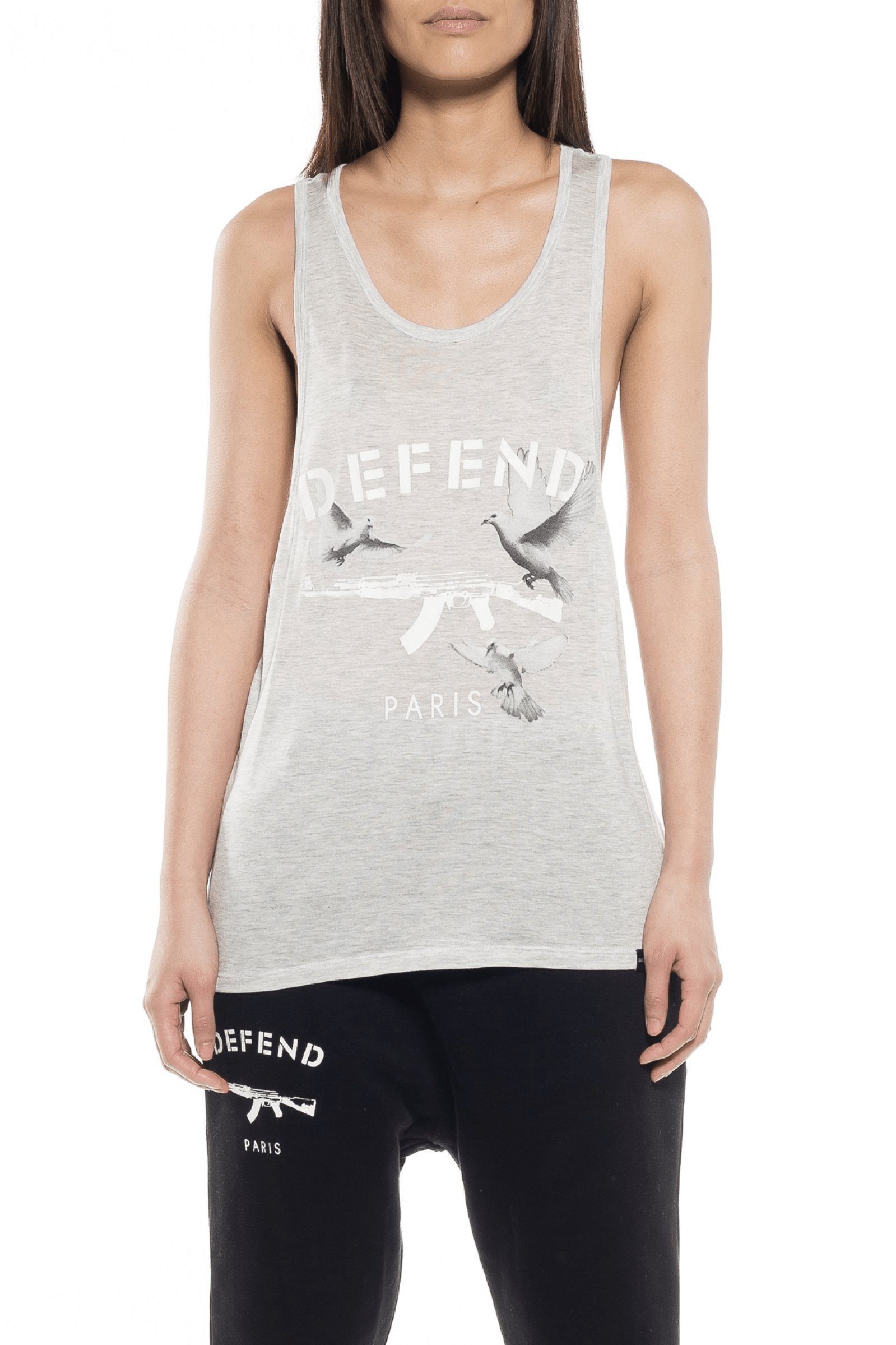 Rosario Tank Top Grey - The Bobby Boga