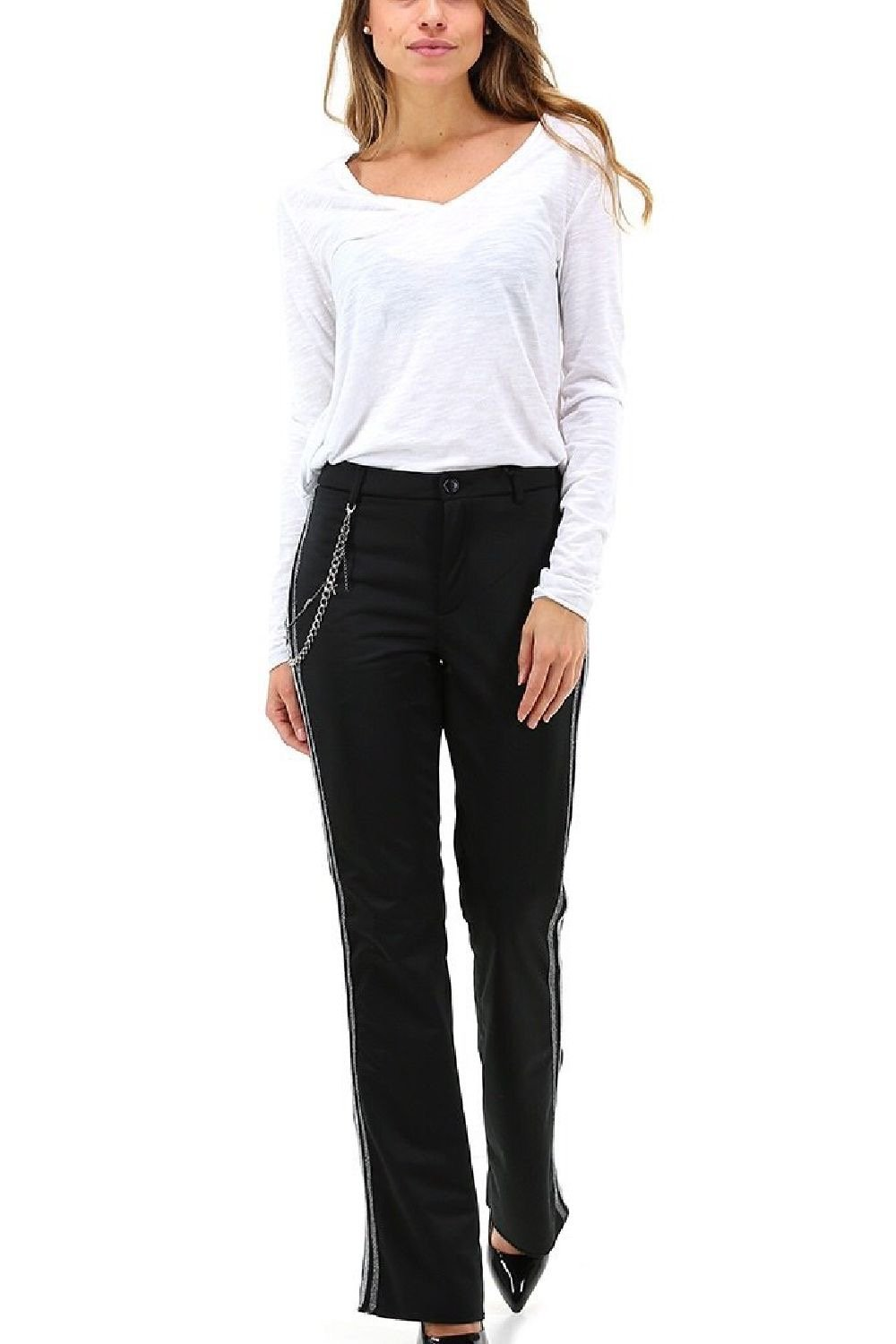 Side Seam Stripes Pants - The Bobby Boga