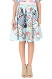 Rocket Printed Skirt - The Bobby Boga