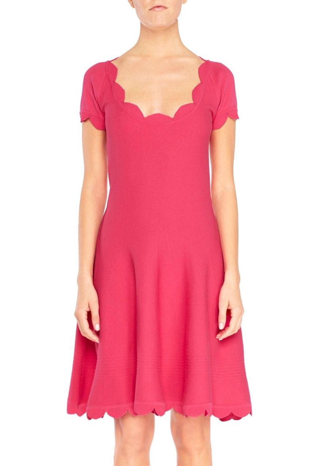 Scalloped Knit Dress - The Bobby Boga