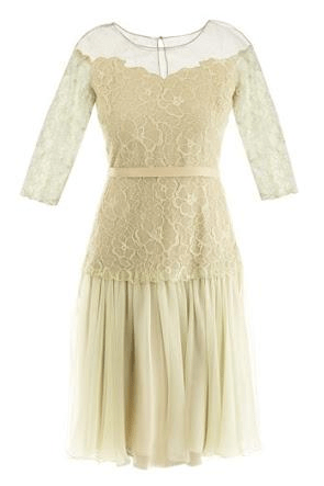 Avori Embroidered Lace Chiffon Gala Dress - The Bobby Boga