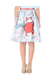 Crab Printed Skirt - The Bobby Boga