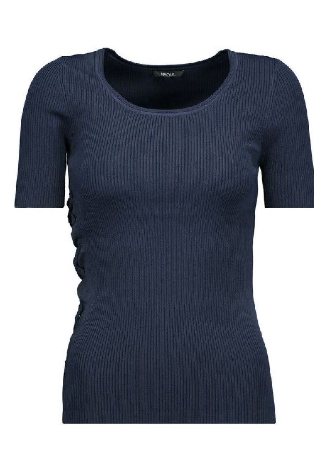 Knitted Blue Top - The Bobby Boga
