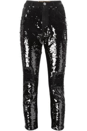 Embroidered Sequins Boyfriend Jeans - The Bobby Boga